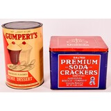 Vintage Grumpert's and Soda Crackers Tins