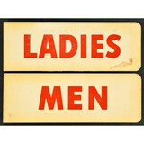 Matched Set 1940s/1950s Flanged Restroom Signs