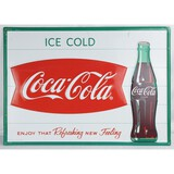 Coca-Cola Fishtail Ice Cold Sign