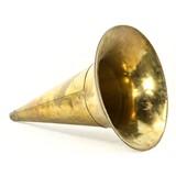 Brass Bell Phonograph Horn