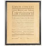 Edison Framed Phonograph Advertising