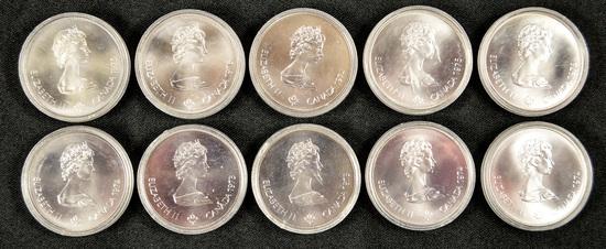 Canadian 5 Dollar 1976 Montreal Olympics Coins
