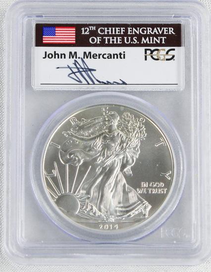 2014 First Strike Silver Eagle Coin
