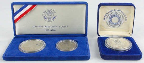 Lot of USA Liberty Coins and NY Silver Collection