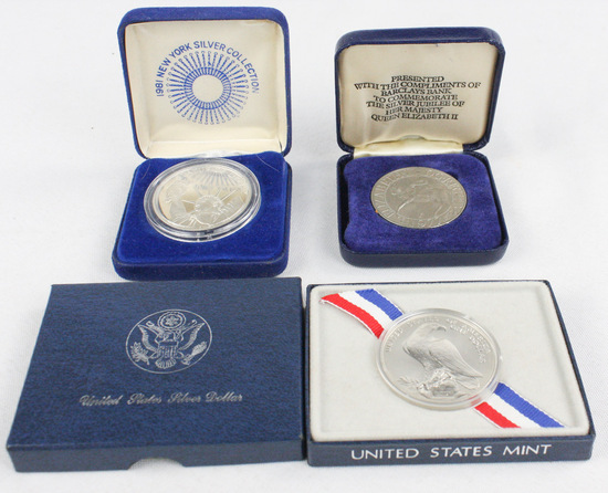 3 Commemorative Silver Bullion Coins