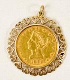 1892 Lady Liberty 10 Dollar Gold Coin