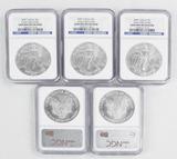 2007 Walking Liberty Uncirculated Silver Dollars