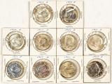10 1964 Silver Kennedy Half Dollars