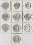10 1964 Kennedy Silver Half Dollars