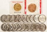 20 Clad Kennedy Half Dollars