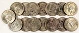 15 Circulated Eisenhower Dollars
