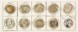 10 Silver Franklin Half Dollars