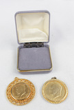 1972 Eisenhower & 1974 Kennedy Gold Plated Coins