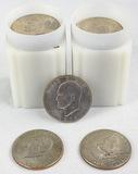 48 1970s Eisenhower Dollars