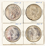 Lot of 6 American Silver Dollars