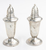Lot of 2 Pair Sterling Silver S & P Shaker Set