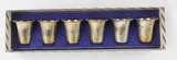 Sterling Cordial Shot Cups Set