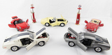 Lot of Model Cars and Mini Gas Pumps