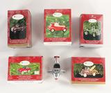 Lot of Hallmark Keepsake Pedal Car Ornaments