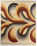 1970's Psychedelic Fabric Wall Art Signed