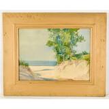 Framed Watercolor Painting on Paper-Edmund Campbel