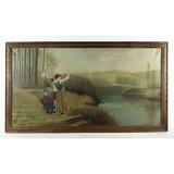 Framed Oil Painting on Canvas-J.Jacobsen