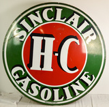Sinclair Gasoline Sign DS Porcelain 6' Original