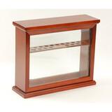 Levenger 20 Pen Wood & Glass Display Case