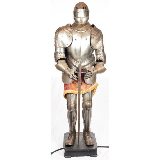 Contemporary Knight Armor Suit Display