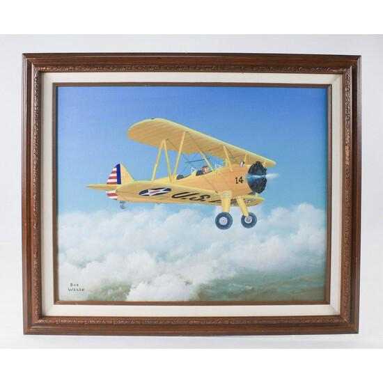 "Bob Weiler ""Curtis B Plane"" Painting"
