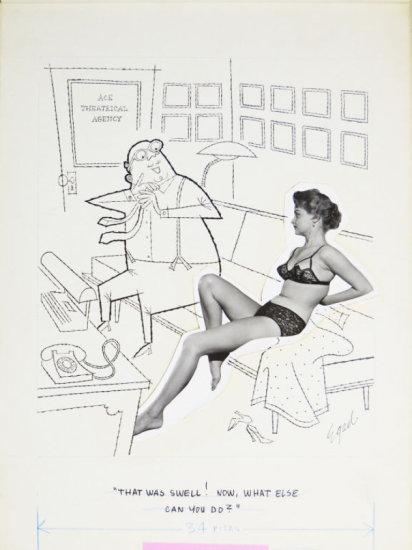 Fling 1950s Line Art Illustrated Cartoon