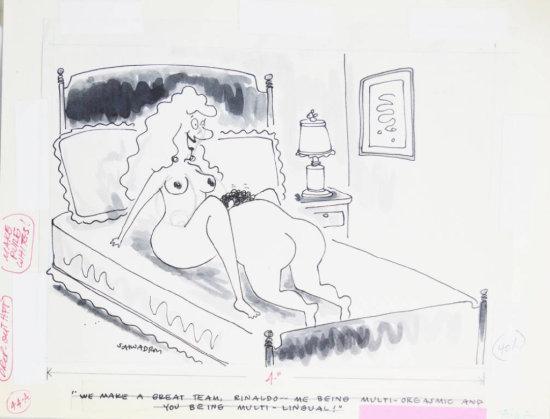 Fling Circa 1970s Line Art Illustrated Cartoon