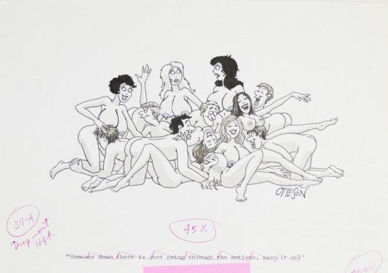 Fling Circa 1980s Line Art Illustrated Cartoon