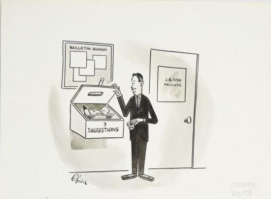 Fling Black & White 1960s Illustrated Cartoon