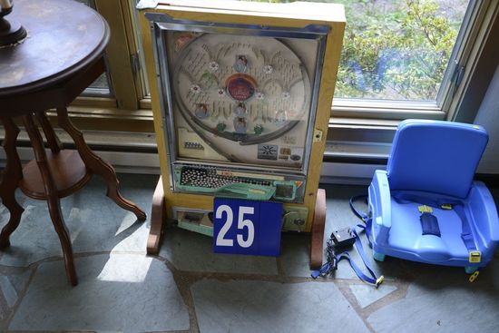 Pachinko Game, Missing Back Plate