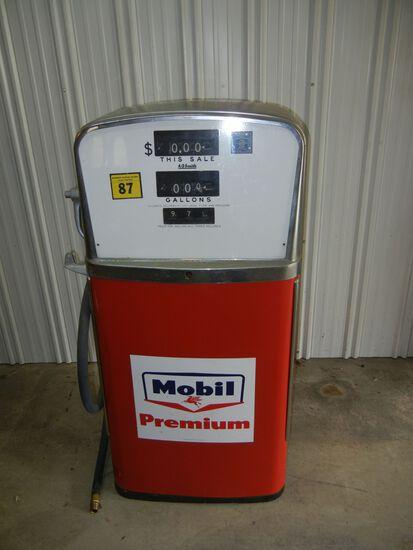 Mobil Premium Antique Gas Pump