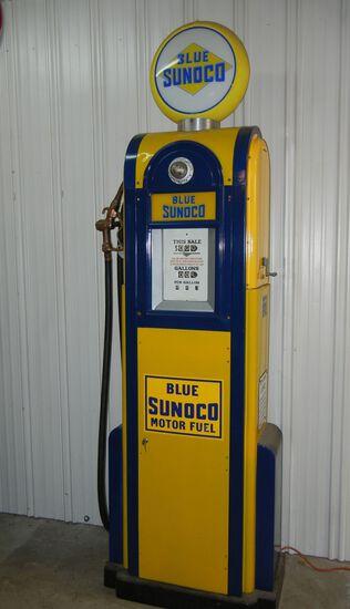Blue Sunoco Antique Gas Pump
