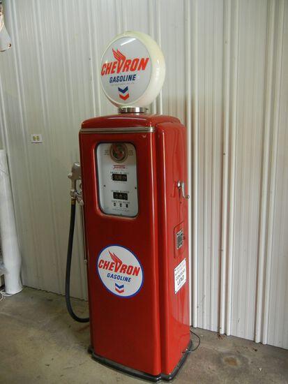 Chevron Antique Gas Pump