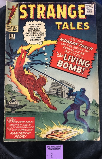 Strange Tales Marvel Comic Silver age Book