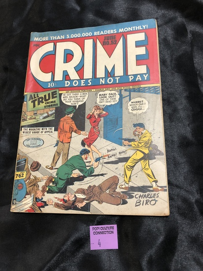 Rare Golden age Comic Crime Does Not Pay.  # 52