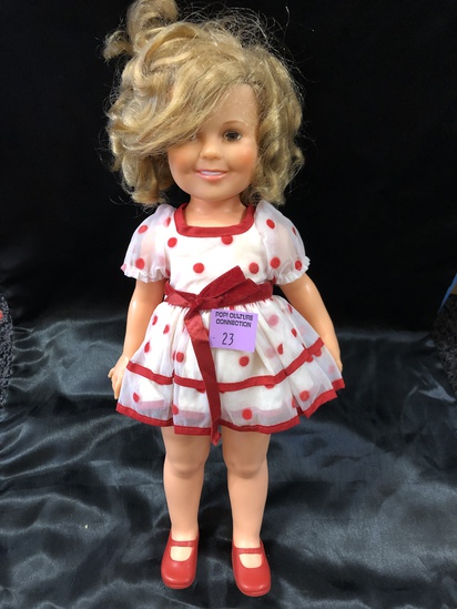 """VINTAGE 20"""" INCH CLEAN SHIRLEY TEMPLE DOLL."""