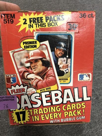 1981 FLEER BASEBALL WAX BOX SEALED