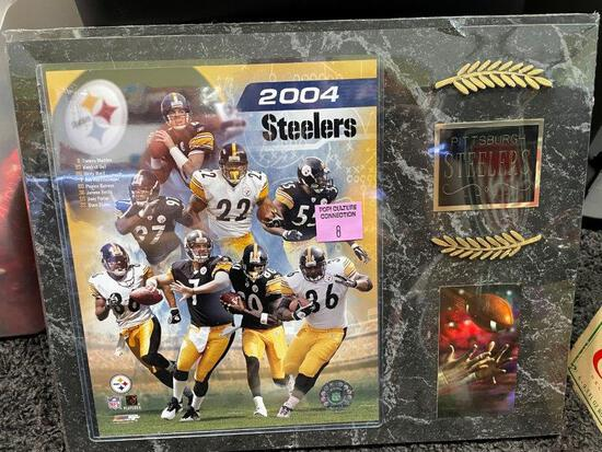 2004 Steelers Wall Plaque Display