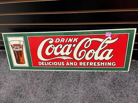 Coca Cola Large Metal Display Sign