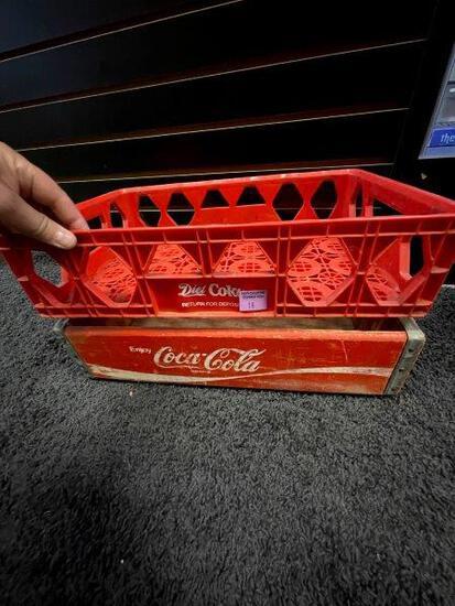 Vintage Plastic And Wooden Coca Cola Crates Lot