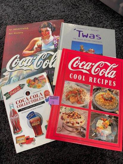 Vintage Coca Cola Recipes And Collectibles Books lot