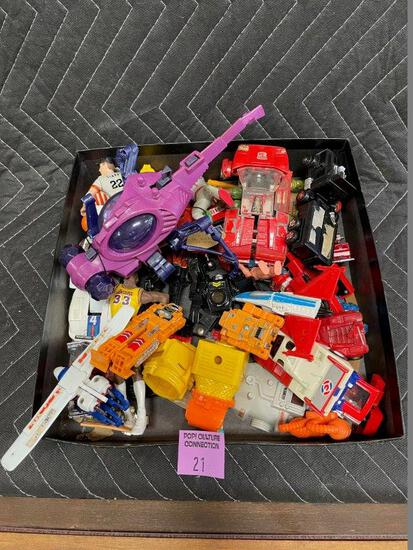 Mixed Box Lot of Toys, Action Figures, Transformers And More