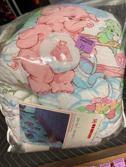 Vintage 1985 Bibb Care Bears Full Size Comforter