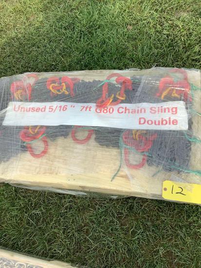 """Pallet of 5/16"""" G80 Chain Slings, 7Ft"""
