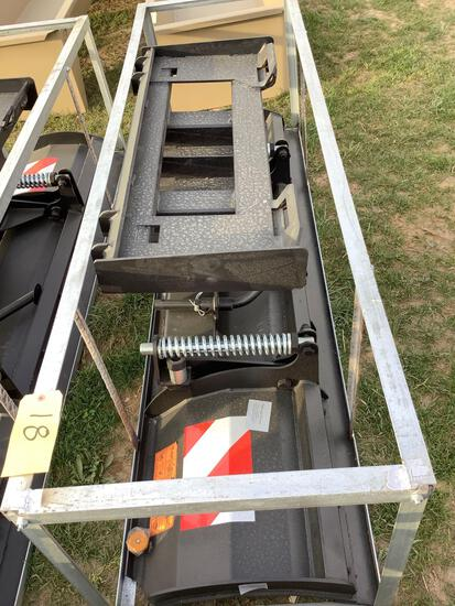Skid Loader Power Angle Plow Attachment